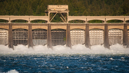 Closeup of Bonneville Dam