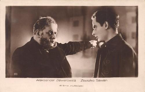 Zbyszko Sawan and Aleksander Zelwerowicz in Huragan (1928)