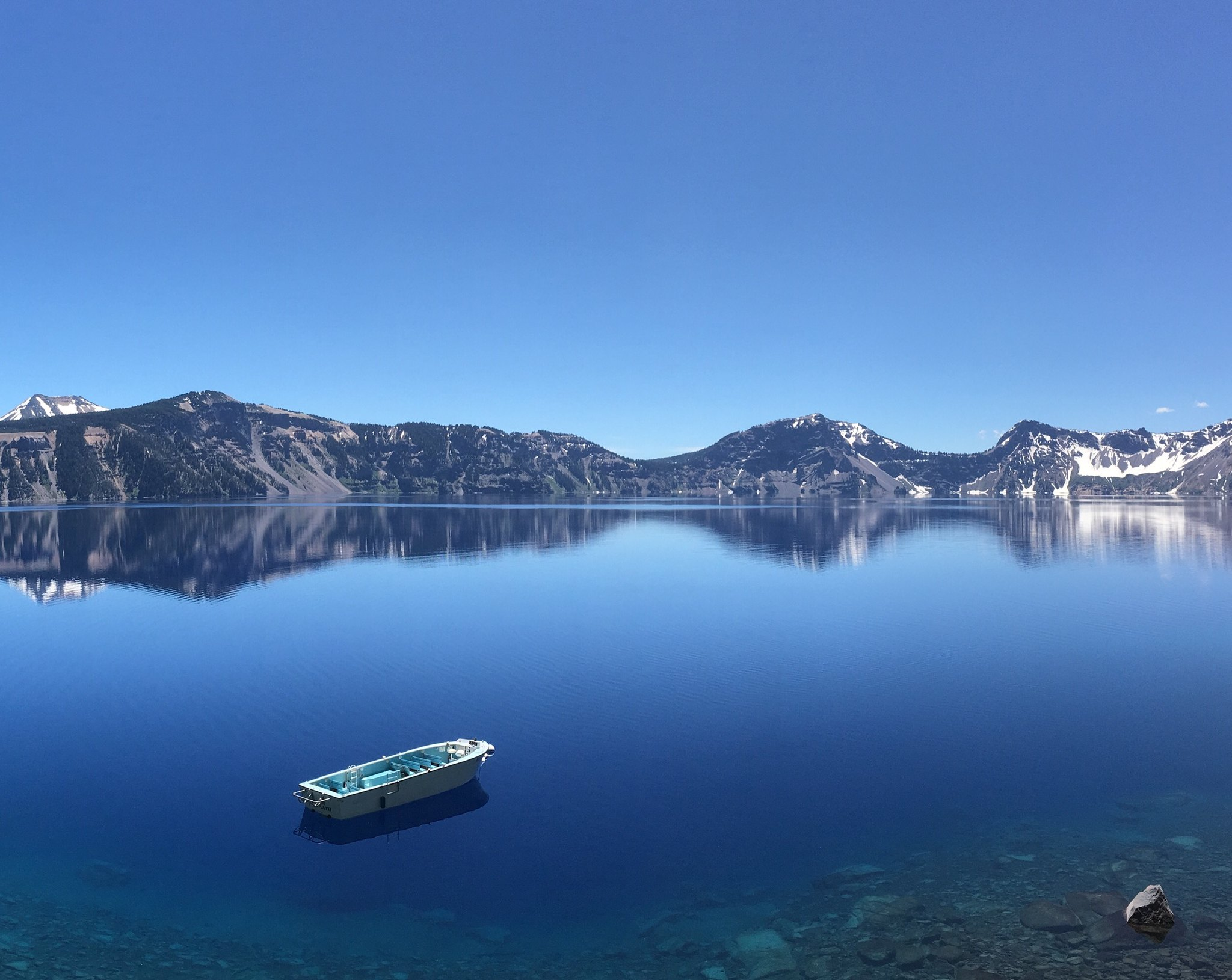 Boat in Crater Lake