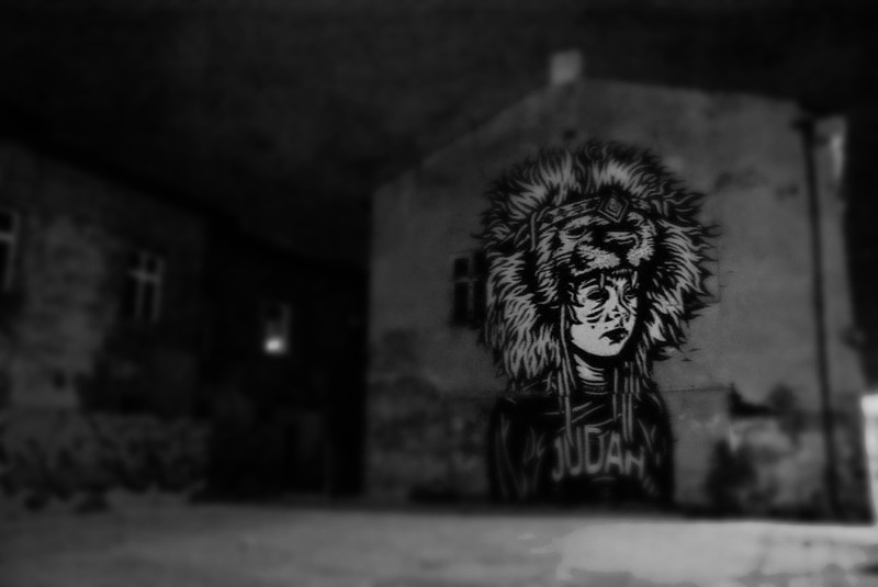 Street art dans un coin de l'ancien quartier juif de Cracovie.