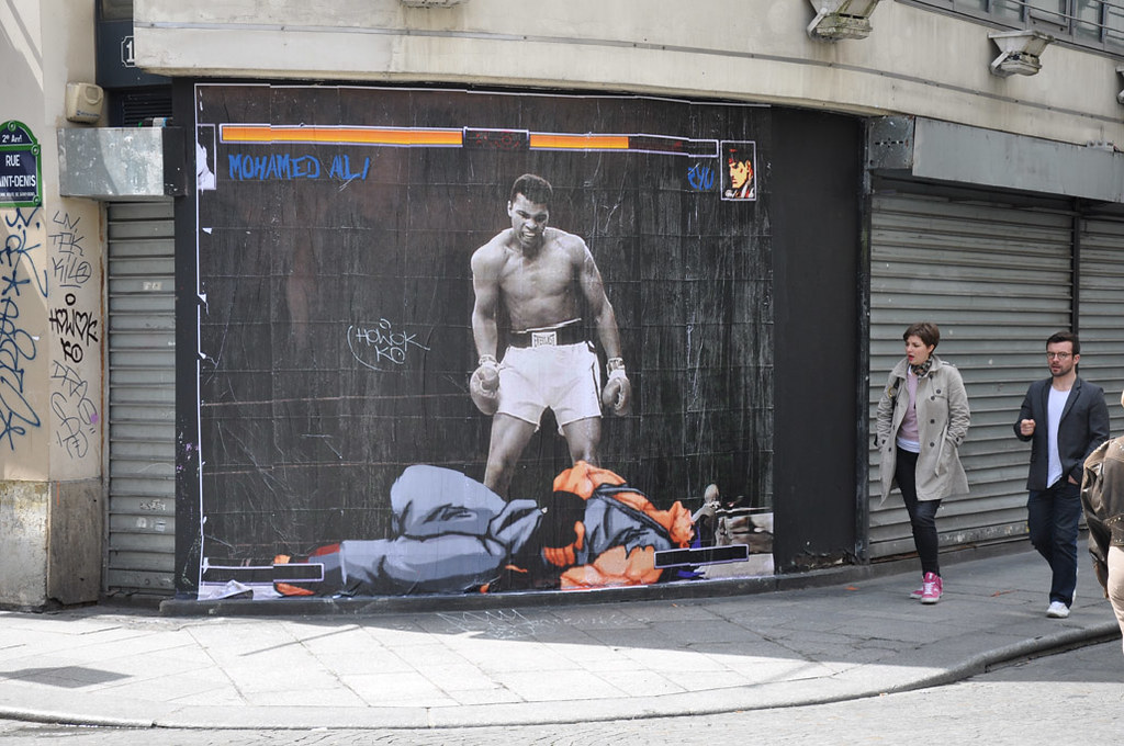 Street art by COMBO Culture Kidnapping - Street Fighter vs Muhammad Ali
