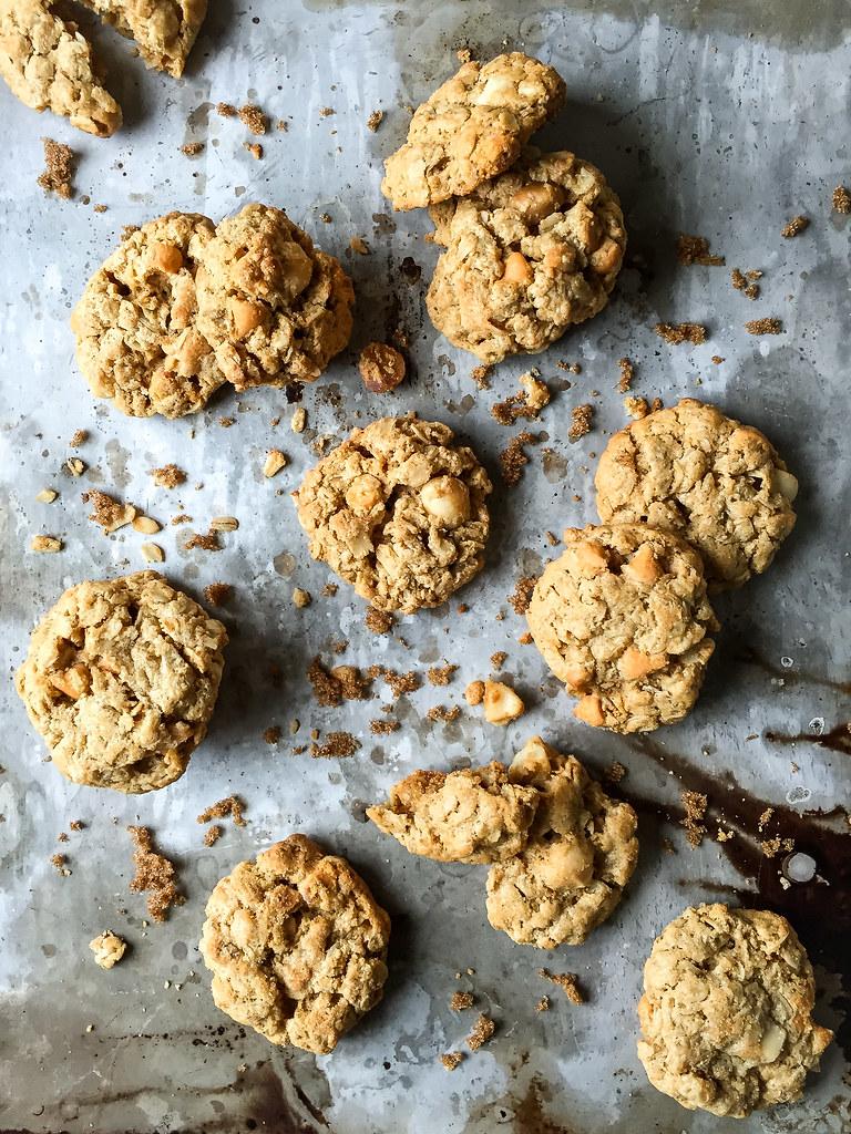Macadamia butterscotch cookies