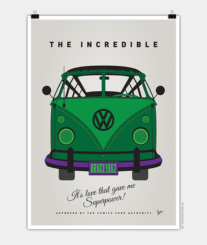 Volkswagen T1 superhero rides by Chungkong - The Incredible Hulk