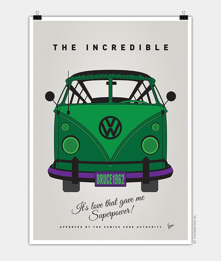 Volkswagen T1 superhero rides by Chungkong - The Incredible Hulk