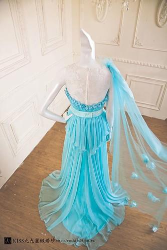 拍照婚紗和宴客禮服怎麼選?讓高雄kiss99婚紗告訴你:拍攝用禮服 (7)