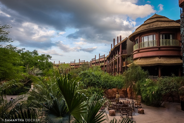 Disney's Animal Kingdom Lodge at Dusk