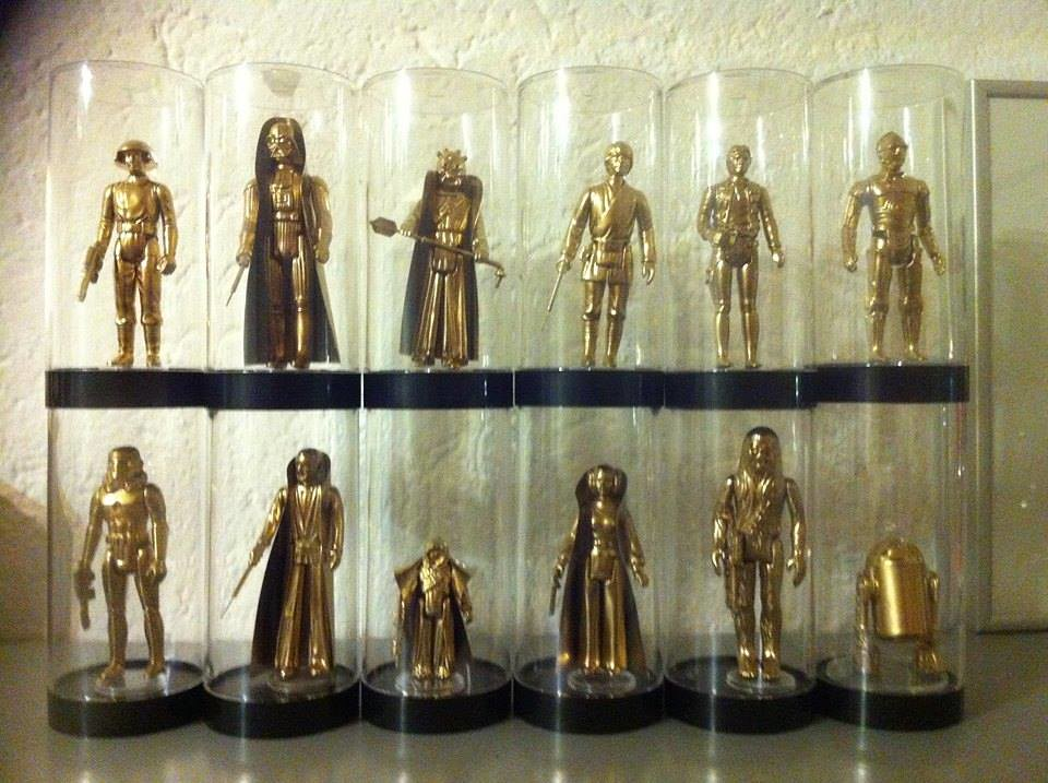 Vintage Star Wars Action Figures 24KT Gold Edition