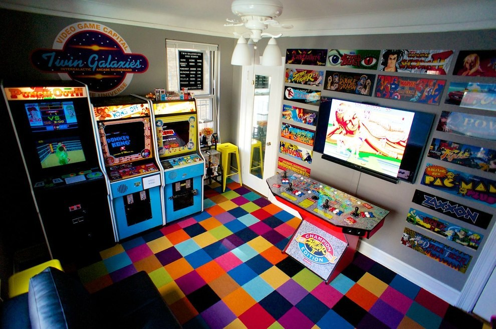manhattan bedroom arcade a collection of retro games that came with a