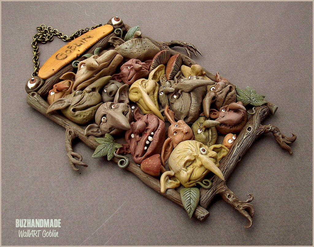 Labyrinth clay collection by buzhandmade - Goblin Wall-art