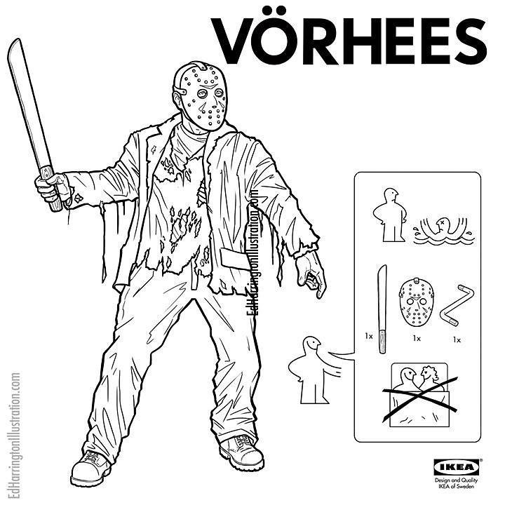 IKEA Instructions for Horror Fans - Jason Voorhees by Ed Harrington