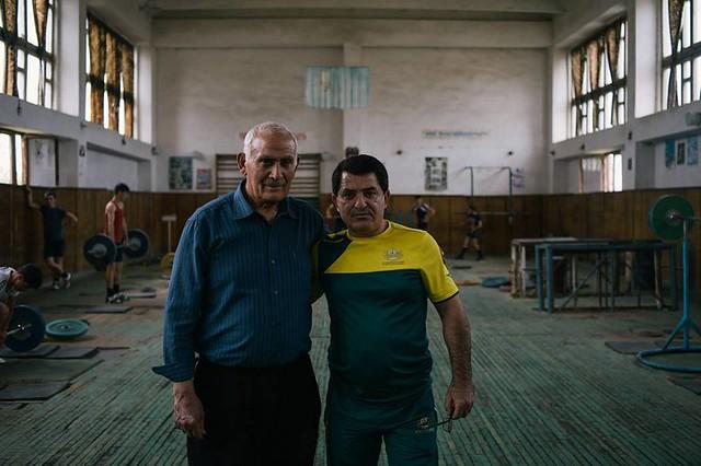 Феликс Алиев (слева) со своим учеником Юрием Саркисяном (справа). фото Jacob Balzani Lööv