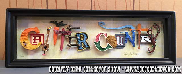2015 Disneyland 60th Diamond Celebration Icon Letters Critter Country Art - Country Bear Jamboree Collector Show #060