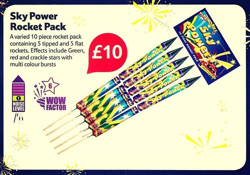 £10 TESCO PRICE - Sky Power Rocket Pack by Standard Fireworks