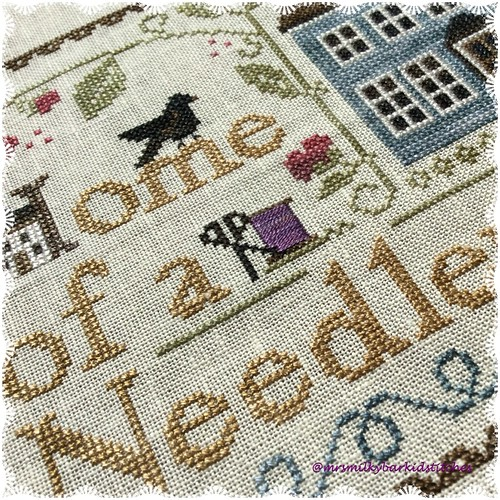 Home of a Needleworker Closeup