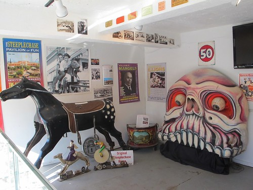 Coney Island History Project Exhibit Center, Steeplechase Horse and Giant Skull