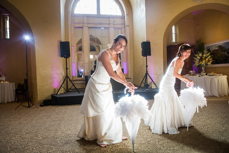New Orleans two-bride wedding from @offbeatbride