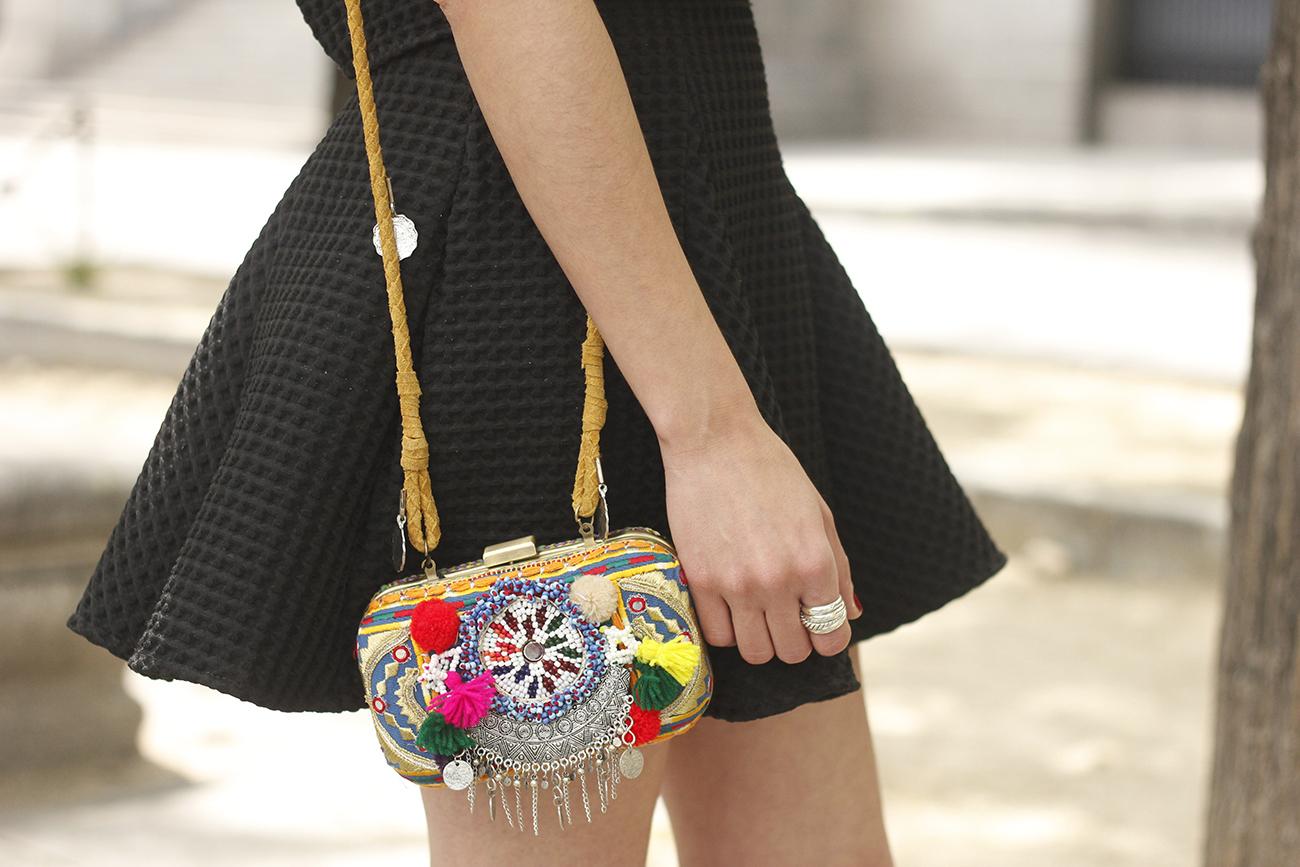 Little black dress maje carolina herrera sandals bag outfit fashion style summer sunnies23
