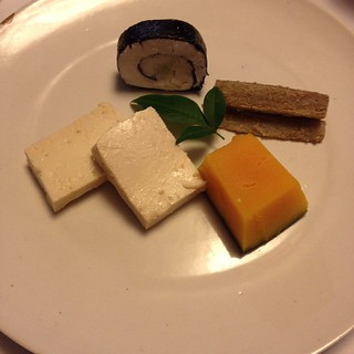 Aged tofu brushed with miso at a shojin secret supper club