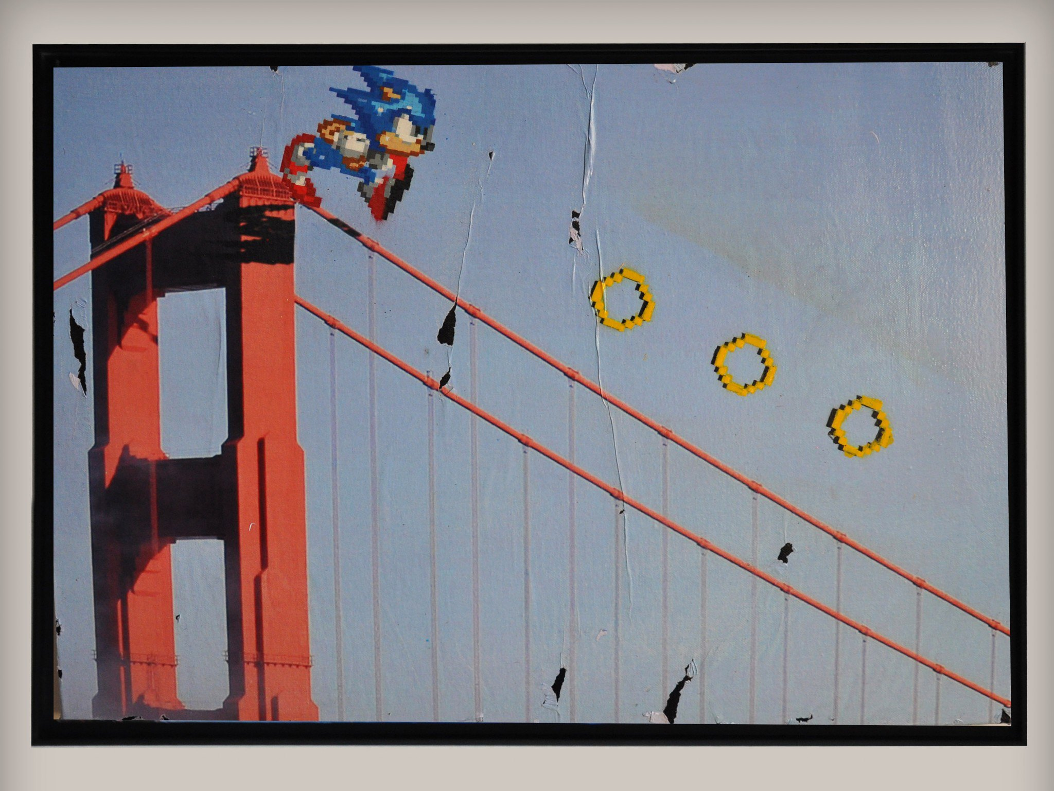 Street art by COMBO Culture Kidnapping - Sonic the Hedgehog