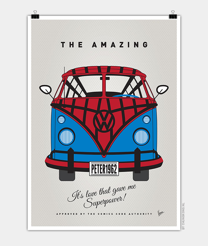 Volkswagen T1 superhero rides by Chungkong - Spiderman