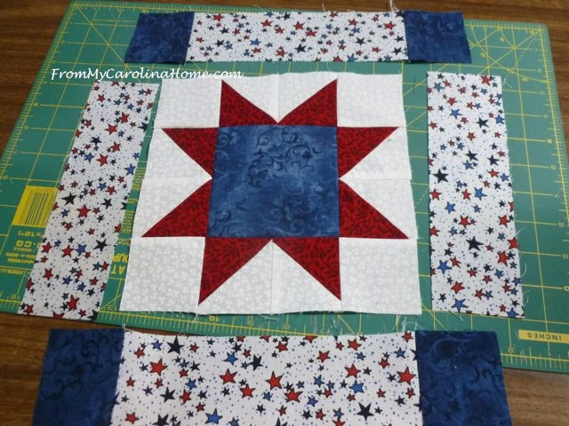Patriotic Star Mini Quilt ~ From My Carolina Home