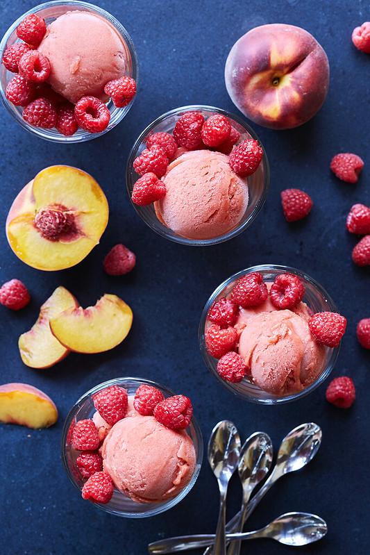 Peach Raspberry Sorbet