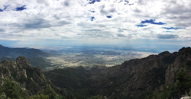June 25: At the top of Sandia Mountain. Where it's harder to breathe but the alcohol works faster. #project365