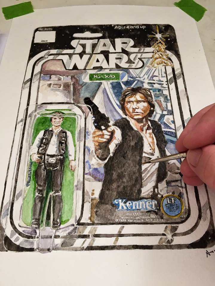 Vintage Star Wars toys, the art of Alastair Eales - Han Solo 12 Back