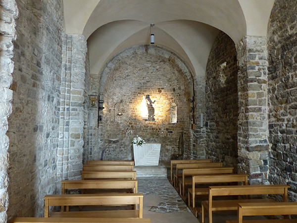 dans la chapelle de Bordighera
