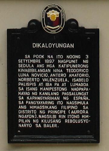 Putok sa Dikaloyungan Historical Marker