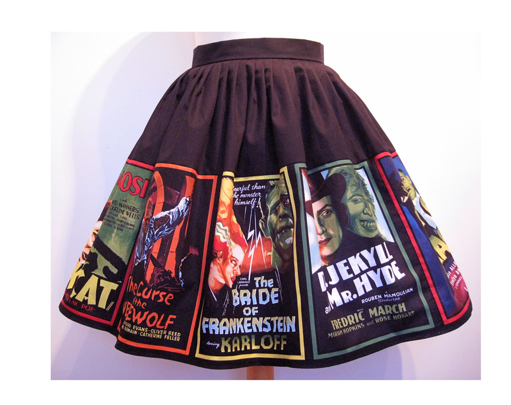Horror Movie poster skirt by Frockasaurus