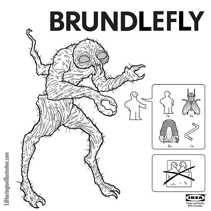 IKEA Instructions for Horror Fans - The Fly by Ed Harrington