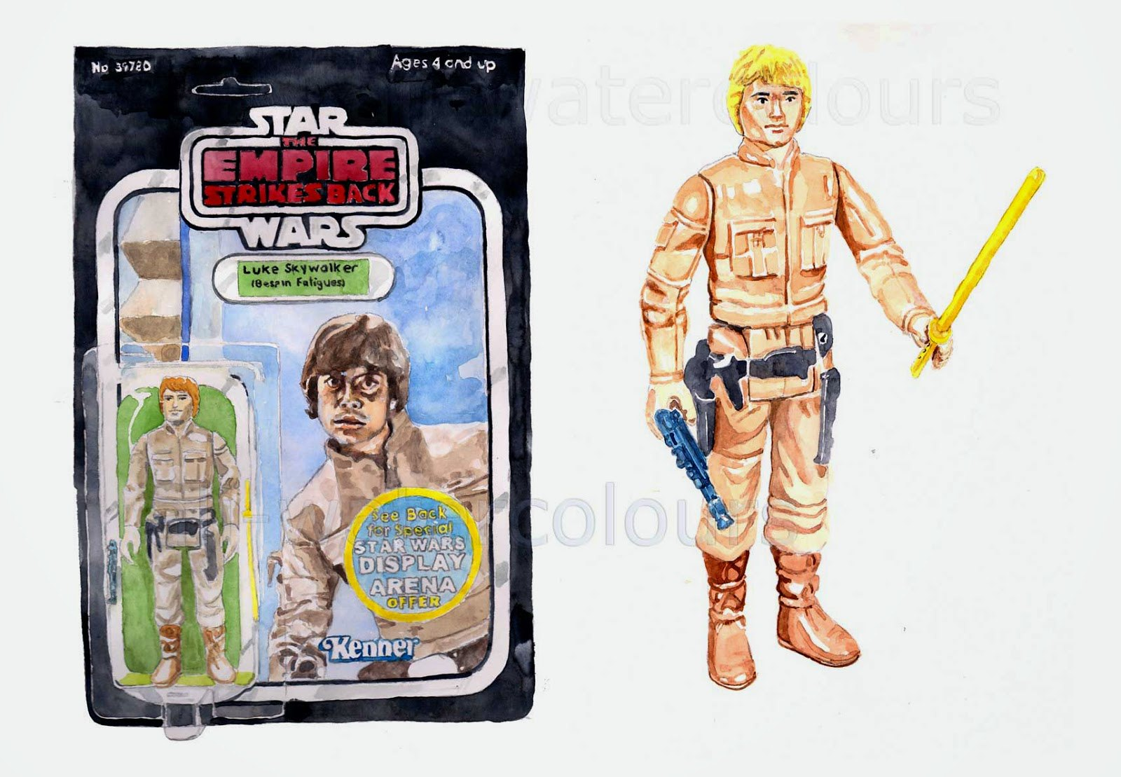 Vintage Star Wars toys, the art of Alastair Eales - Luke Bespin