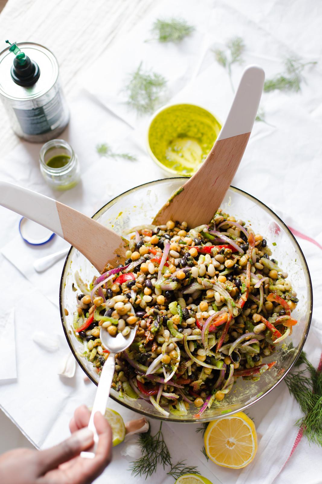 Mixed Bean Salad with Cilantro Lime Vinaigrette