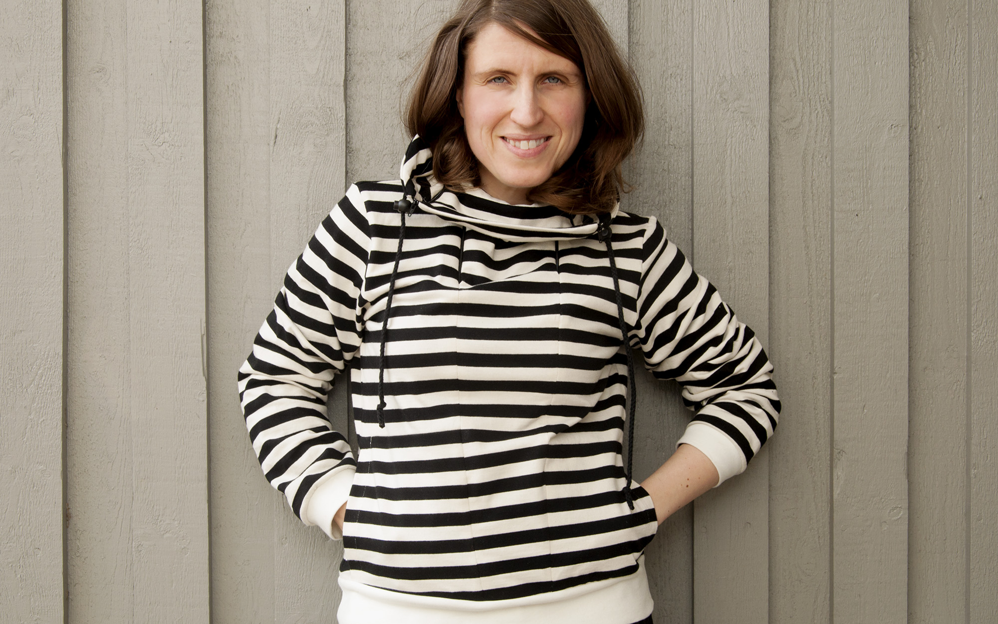 Burdastyle zippered high collar sweater