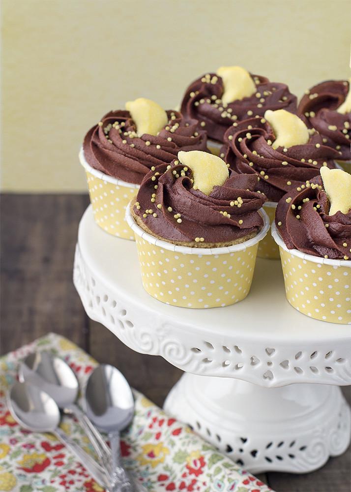 Receta cupcakes chocolate y plátano