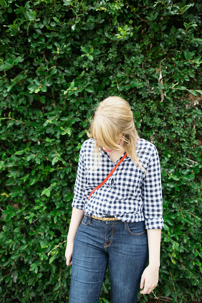 casual gingham outfit