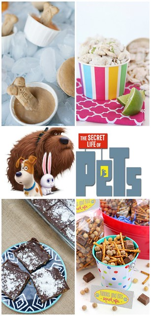 The Secret Life of Pets Party collage.