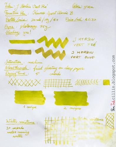 J Herbin Vert Pre on photocopy