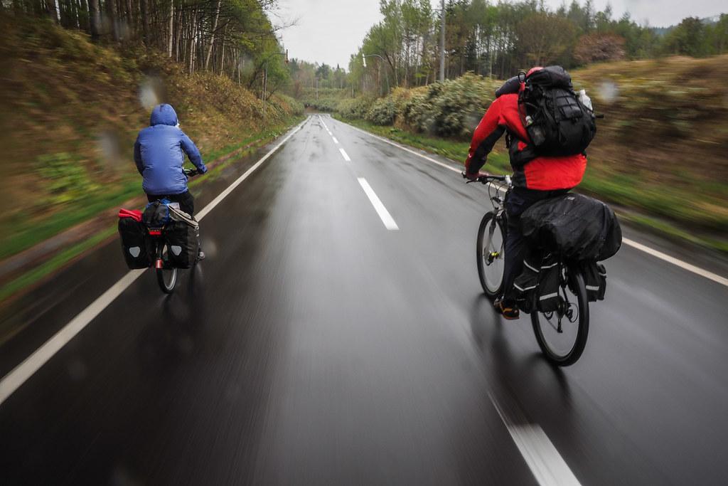 Retreating back down route 345 near Kitahiyama, Hokkaido, Japan