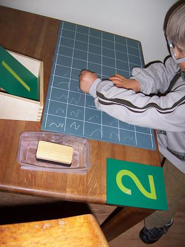 Writing Numerals (Photo from Montessori for the Earth)