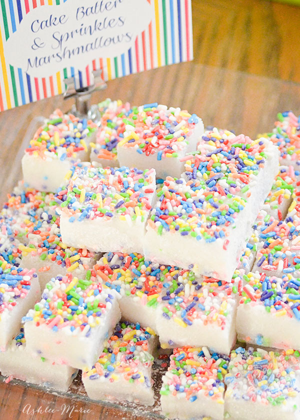 cake mix and sprinkles marshmallows, are light and delicious