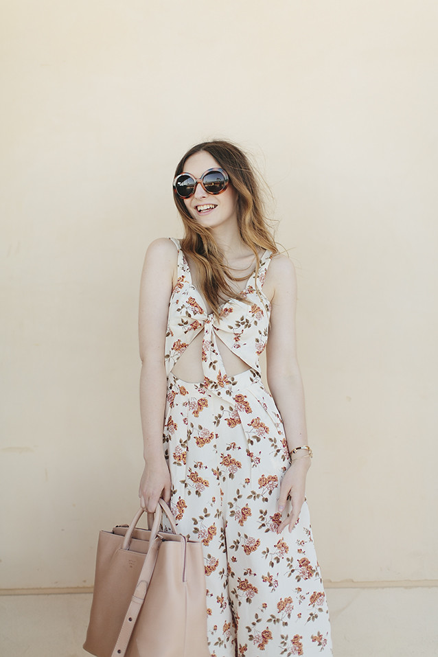 ASOS Floral Culotte Jumpsuit What Olivia Did
