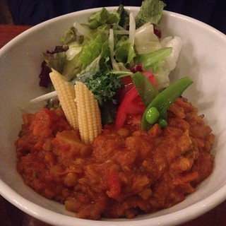 Vegan curry at Eat More Greens in Azabu Juban.