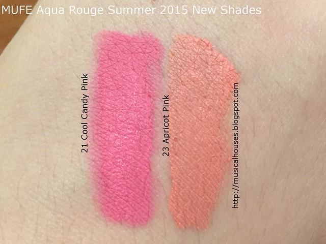 MUFE Swatches Aqua Rouge Summer 2015