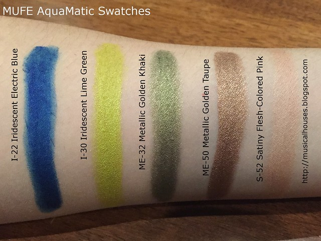 MUFE AquaMatic Swatches Summer 2015 2