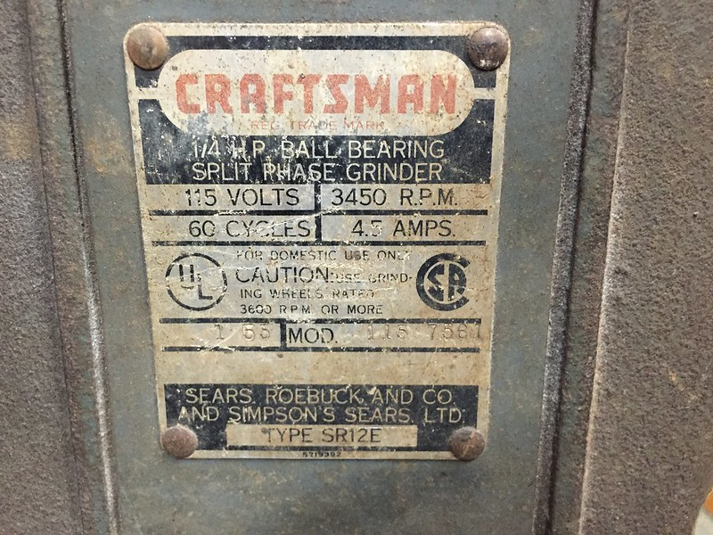 Craftsman Block Motor Bench Grinders What's The Fuss With. Also Does The 1 55 On Name Plate Indicate A January 1955 Manufacture Date. Wiring. C2371 Craftsman Bench Grinder Wiring Diagram At Scoala.co