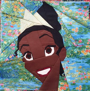 Tiana. Paper pieced. Fandom in Stitches.