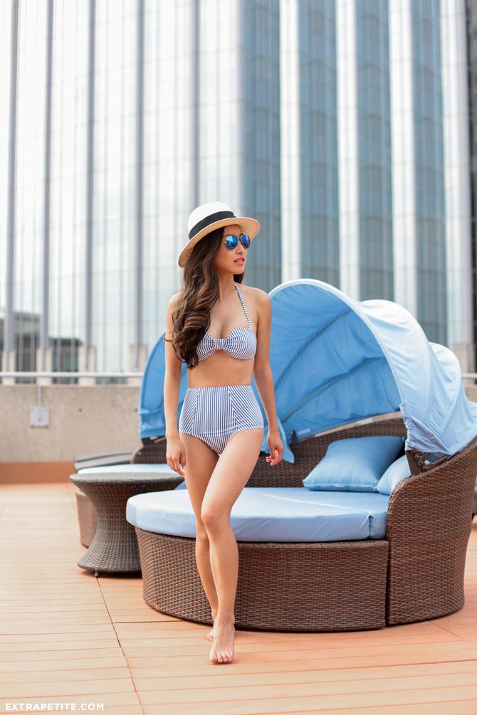 swimsuits for petite women_asos high waisted bikini