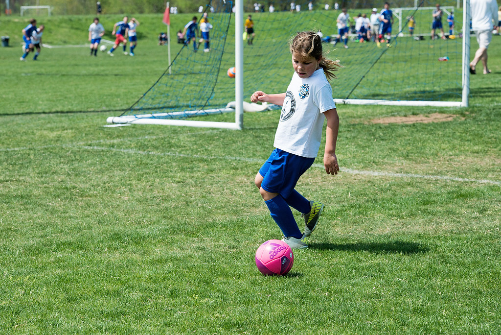 emma playing soccer